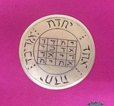 Pasarel - An Extremely Rare Antique Silver Christian Kabbalah Amulet / Talisman, Ca 1700. $1200.00