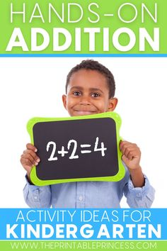 Struggling to teach addition to your kindergarteners? Help them grasp this tricky concept with these 12 fun hands-on addition activities and hands-on addition games they are sure to love! #additionactivities #additiongames #kindergartenteacher #kindergartenclassroom #iteachk