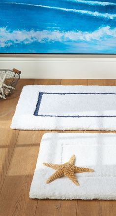 Our skid-resistant Resort Cotton Bath Rugs provide cloud-like softness as you step out of the shower.
