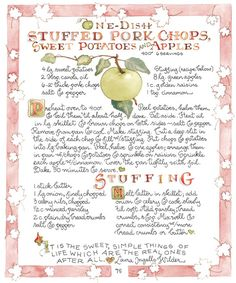 Stuffed Pork Chops - hey I have this cookbook, got it from a dear sweet friend of mine. I love these books!