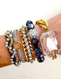 Moonlight Stroll Arm Candy Bracelet Set. $45.00, via Etsy.