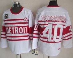 """$35.88 at """"MaryJersey""""(maryjerseyelway@gmail.com) Red Wings 40 Henrik Zetterberg White 75TH CCM Stitched NHL Jersey"""
