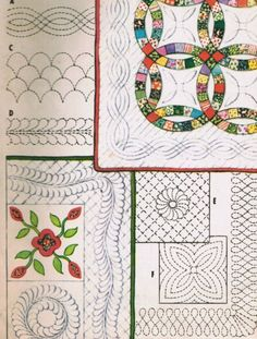 Vintage 1959 McCall's  Craft Pattern Patchwork and Applique Quilt Blocks, Quilting Motifs, and Borders