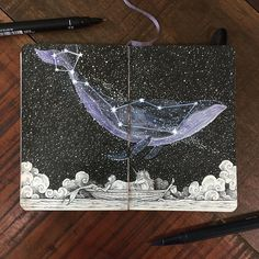 """5,578 Likes, 45 Comments - K E R B Y   R Ø S A N E S (@kerbyrosanes) on Instagram: """": Are we lost? : Nope. My friend in the sky will lead us home. ---------- C E T U S - multiliners…"""""""