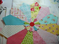 Dresden Plate mini tute  ~ by A Quilting Sheep