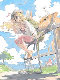 """Cowgirl"" original illustration by Pomodorosa"