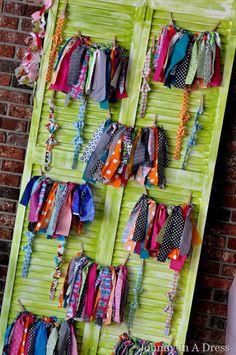 Adorable NO SEW idea! Recycle old fabric scraps to make this adorable tutu! Maybe I can make a Dutch costume fabric tutu for Jemimah! Fabric Tutu, Lace Fabric, Craft Fair Displays, Display Ideas, Birthday Tutu, Birthday Outfits, 3rd Birthday, Birthday Ideas, Fabric Scraps
