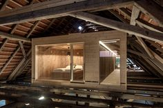 Architecture Design, Temporary Housing, Timber Ceiling, Converted Barn, Italian Home, Rustic Room, Roof Structure, Wood Interiors, Tiny House