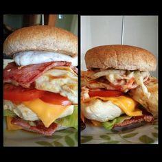 slimming world bacon chicken burgers