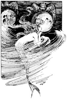 illustration in fairy tales of Andersen (Helen Stratton).
