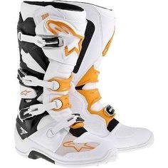 Alpinestars Tech 7 Boots , Primary Color: White, Size: 13, Distinct Name: Orange, Gender: Mens/Unisex 20120142413 >>> Click image for more details.