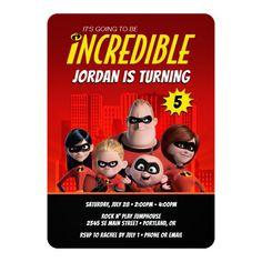 The Incredibles Family Birthday Invitation Incredibles Birthday Party, Disney Incredibles, Superhero Birthday Party, Disney Birthday, Boy Birthday, Disney Pixar, Birthday Ideas, Superhero Kids, Surprise Birthday