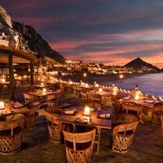 Seaside Dining Event with Sunset - Malibu California