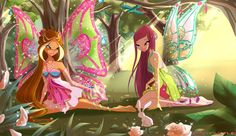 winx club best fairy friends-Flora and Roxy Winx Club, Roxy, Winx Magic, Les Winx, Flora Winx, Bloom, Fairytale Fantasies, Princesas Disney, Magical Girl