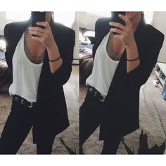 Silence + Noise Boyfriend Blazer Worn few times. Only flaw is white mark on inside of the collar (pictured) so it is completely unseen when wearing. Relaxed, oversized fit. Can be worn to work or dressed up for a night out! Can fit XS-Medium. Urban Outfitters Jackets & Coats Blazers