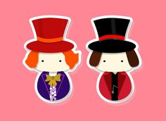 Kokeshi - Which one is Willy Wonka by ~smallrinilady on deviantART
