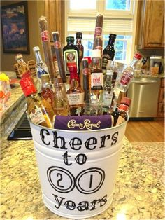 25 DIY Gift Baskets For Any Occasion 21st birthday 21st and