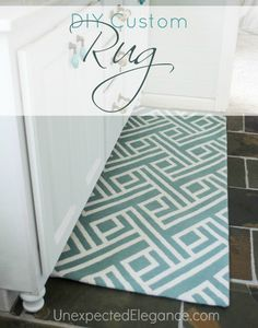 How to Create a Custom Rug to Fit your Space for less than $5.  EASY DIY project!!