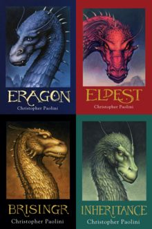Eragon series...finally finished them all. The last book was good but I was hoping it would be a little happier...