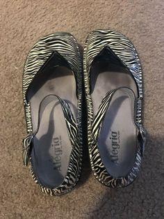 bccf8c0b27ad Alegria Zebra Shoes 10m  fashion  clothing  shoes  accessories  womensshoes   flats