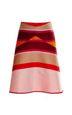 Striped Double-Face Flared Skirt by Ostwald Helgason - Moda Operandi, $630