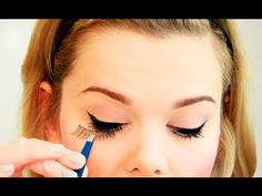 How to put on Fake Lashes the easy way & lots of tips - Love Falsies ❥ - YouTube