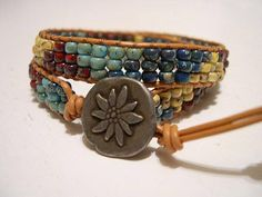 Hey, I found this really awesome Etsy listing at https://www.etsy.com/listing/533031208/beaded-wrap-braceletleather-wrap