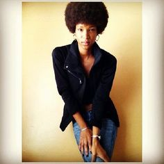 @Janine Tondu is rocking that fro and looks absolutely #afrotastic! #afro #teamnatural #afrolicious #naturalhair