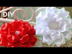 getlinkyoutube.com-Бант Цветок из ленты. Мастер-класс / Tutorial: Ribbon Bow-Flower/ Kanzashi DIY
