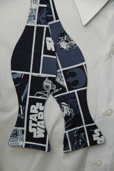 Star Wars on Blue Bow tie by PinchAndPull on Etsy, $20.00
