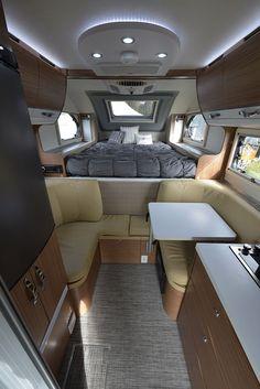 nuCamp Debuts Cirrus 670 Prototype - Truck Camper Magazine Cirrus 670 Interior, www. Camping Diy, Truck Bed Camping, Van Camping, Van Conversion Interior, Camper Van Conversion Diy, Camper Steps, Slide In Truck Campers, Rv Campers, Kombi Home