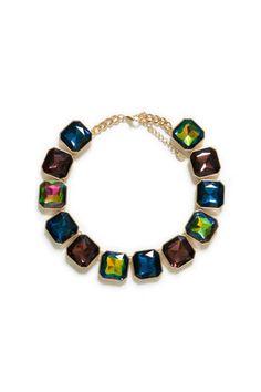 Zara Statement Necklace Piedras grandes y simples #fashion #necklace #statement #MODAnS