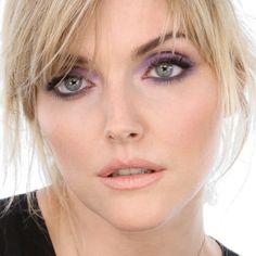 Sophie Dahl lavender smoky eye