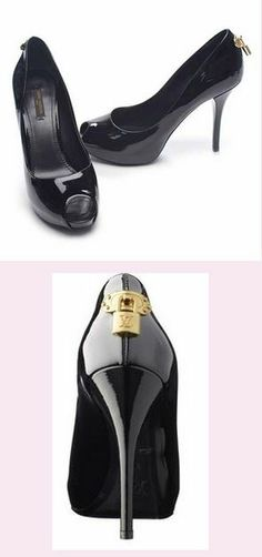 0bfb11eb6be Louis Vuitton Oh Really Black Patent Leather Open Toe Pump Size 9  459 One  Savvy Design Consignment Boutique 74 Church Street Montclair
