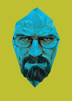 Pure' by Andy Duke was inspired by AMC's Breaking Bad Antagonist/Protagonist character Walter White. Duke infused a cubist style with vibrant ink hues to deliver this instant classic Art Print Graffiti Prints, Graffiti Art, Breaking Bad Poster, Greys Anatomy Memes, Movie Poster Art, Cool Posters, American Horror, Urban Art, Giclee Print