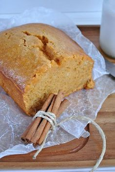 Copycat Starbucks Pumpkin Bread--with a few substitutions!  I used only 2/3 of the sugar (and used organic cane sugar), oat flour, and vanilla Greek yogurt and made it into muffins instead of bread. Yumm! Using a little protein powder and water for icing!