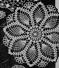 Second Style Doily Pattern - free at Free Vintage Crochet. Crochet Shrug Pattern Free, Crochet Amigurumi Free Patterns, Crochet Stitches Patterns, Free Doily Patterns, Hairpin Lace Crochet, Crochet Dollies, Beginner Crochet Projects, Pineapple Crochet, Lace Doilies