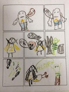 Students at Hills Elementary summer library program made their own comic books based on Zita the space girl.