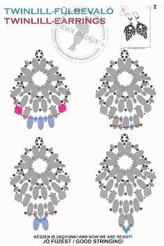 MATERIALE: twin rocailles rocailles rocailles filo ago monachelle Schema Fonte: http:& Free Beading Tutorials, Beading Patterns Free, Seed Bead Patterns, Beading Projects, Free Pattern, Seed Bead Jewelry, Bead Jewellery, Seed Bead Earrings, Diy Earrings