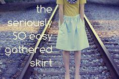 DIY Easy Gathered Skirt