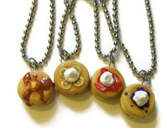 Pancake Best Friends Necklaces Friendship Jewelry by CharlieCarter, $35.00