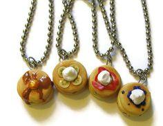 Pancake Best Friends Necklaces Friendship Jewelry by CharlieCarter, $35.00
