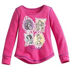 Disney Princess Thermal Tee for Girls Size 2 Pink