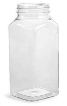 6 Pack - Square Plastic Milk Bottles with lid | 8oz - $7.85