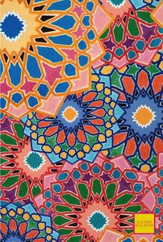 Sisters Gulassa - Stained glass floral pattern