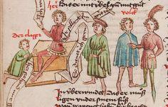 Wolfenbüttel, Herzog August Bibliothek, Thomasin <Circlaere> Welscher Gast (W) — Süddeutschland, 3. Viertel des 15. Jhs. Cod. Guelf. 37.19 Aug. 2° Folio 33v