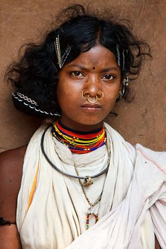 Portrait of a Dongria Kondh woman from a small village in the Niayamgiri Hills, near Chatikona, India. Photo by Kimberley Coole We Are The World, People Around The World, We The People, Tribal People, Tribal Women, Beautiful World, Beautiful People, Mother India, Namaste
