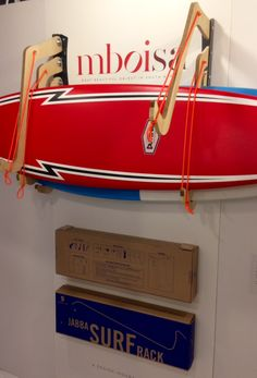 Surfing holidays is a surfing vlog with instructional surf videos, fails and big waves Surfboard Storage, Surfboard Rack, Wooden Surfboard, Van Storage, Secure Storage, Wall Rack Design, Wall Racks, Windsurfing, Wooden Walls