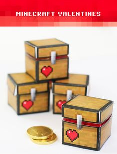 Minecraft Valentines: DIY Treasure boxes with free printable