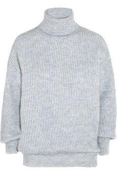 Stella McCartney Ribbed chunky-knit wool-blend sweater | NET-A-PORTER